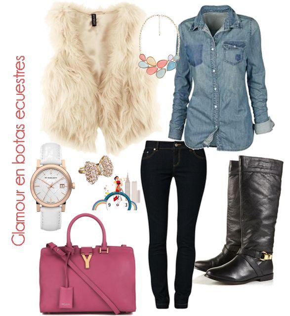 Chic and basic look with riding boots // Look básico y chic con botas ecuestres