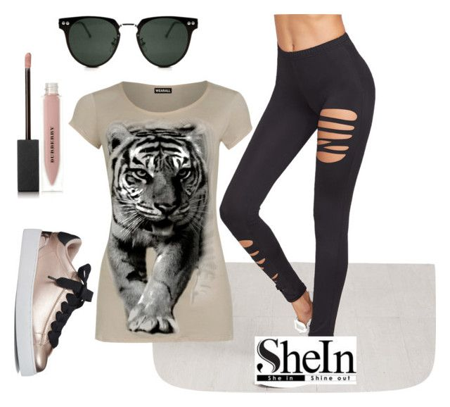 """""""http://www.shein.com/Black-Ripped-Leggins-p-337883-cat-1871.html?utm_source=polyvore&utm_medium=contest&url_from=polymelisajcon"""" by safeta-i ❤ liked on Polyvore featuring WearAll, Spitfire, Nine West and Burberry"""