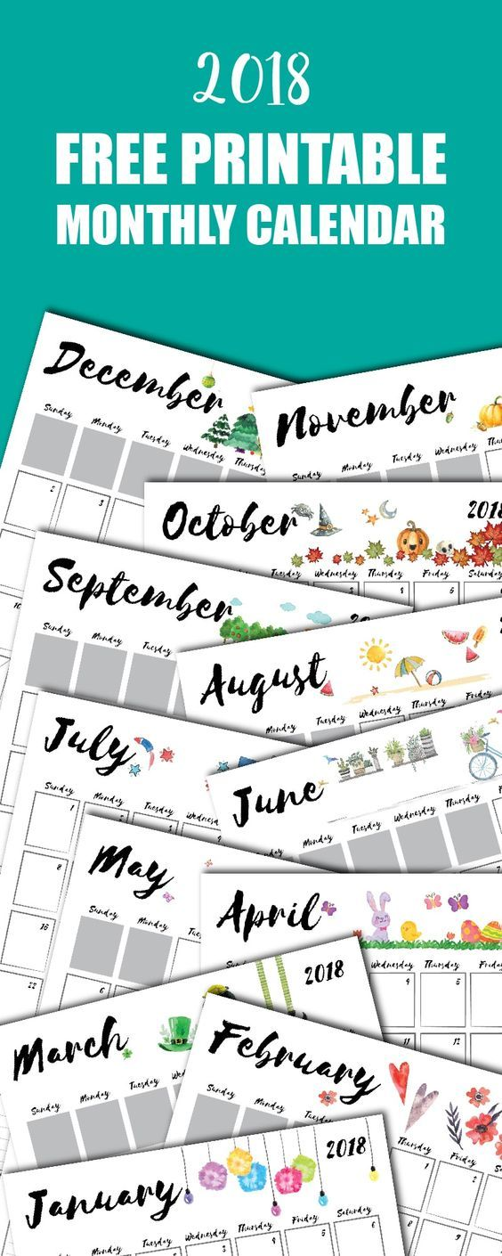 appointment calendar 2018 printable