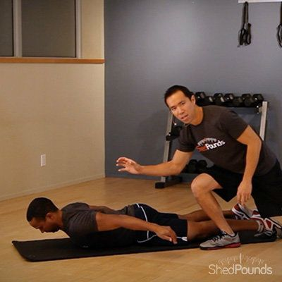 ShedPounds Exercise Tip: Prone Cobra. Watch the full video here: http://shedpounds.com/exercise/exercises/39