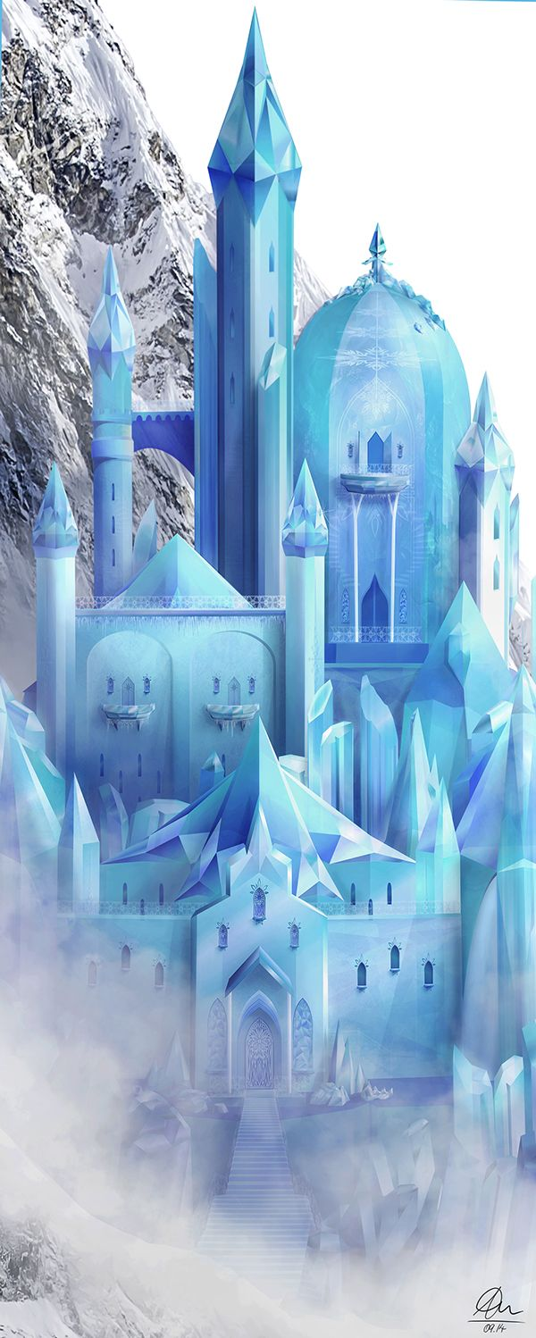 A Frozen Kingdom   Ice Castle Design For A Wall Decal/sticker Inspired By  Disneyu0027s