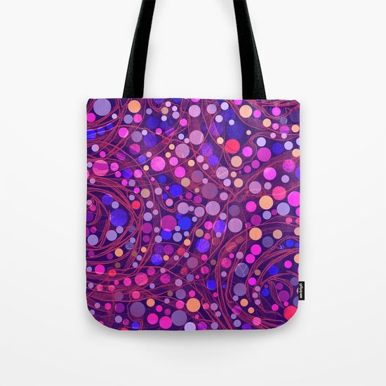Bright polka dot(8) Tote Bag by Mary Berg. Worldwide shipping available at Society6.com. Just one of millions of high quality products available.
