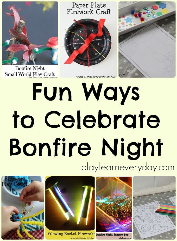 Lots of ideas for fun activities and crafts to prepare for Bonfire Night with little ones.