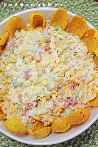 Corn, Rotelle, Cheddar Cheese, Green Onions, Mayonnaise, Sour Cream ...