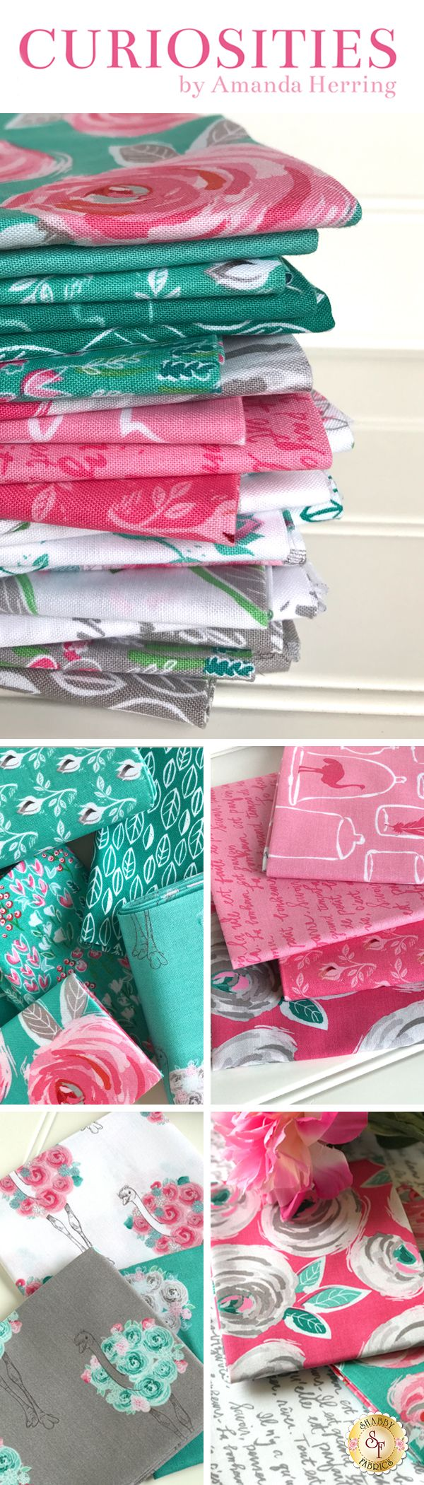 Curiosities by Amanda Herring for Riley Blake Designs is an adorable fabric collection available at Shabby Fabrics!