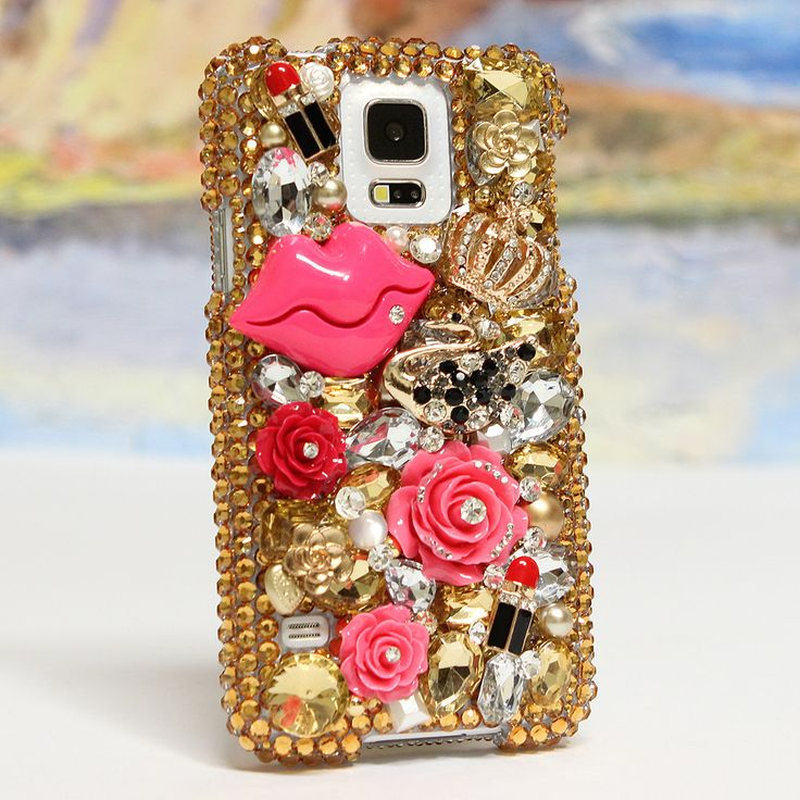 Style 779 Bling Cases, Handmade 3D crystals Pink Lips design case for iphone 5, iphone 5s, iphone 6, Samsung Galaxy S4, S5, Note 2, Note 3, LG, HTC, Sony – LuxAddiction.com