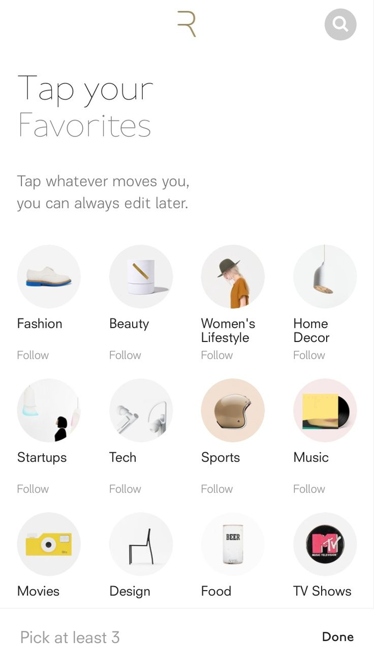 Rover: Discover Stories You Love Design Patterns - Pttrns