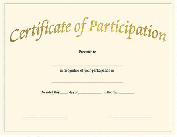 Blank Award Certificate Templates Participation Regarding Templates For Certificate Of Participation Template Blank Certificate Awards Certificates Template