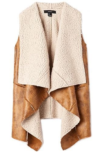 Forever 21 Southbound Faux Shearling Vest, $39.80, available at Forever 21.