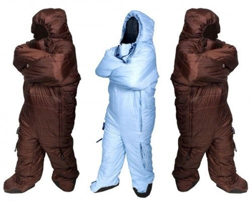 Advantages of Using a Sleeping Bag Suit, In case of bears, you can run like hell. LOL's