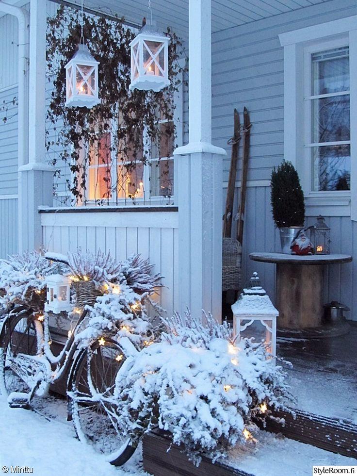 kuisti,talvi,maalaisromanttinen,piha,terassi