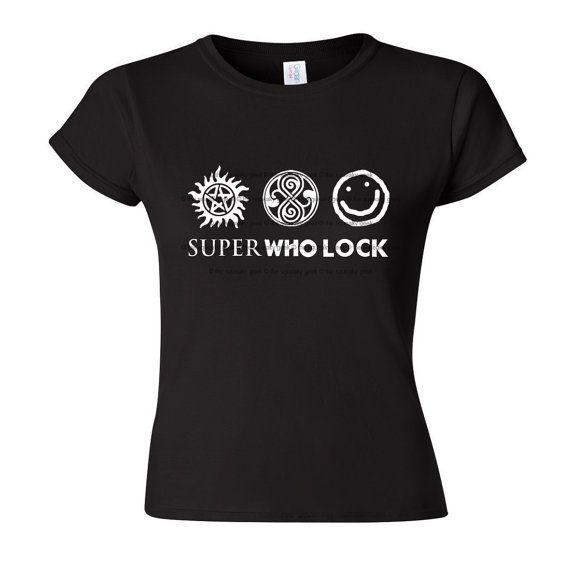 SuperWhoLock fandom t-shirt – Supernatural – BBC Doctor Who – BBC Sherlock