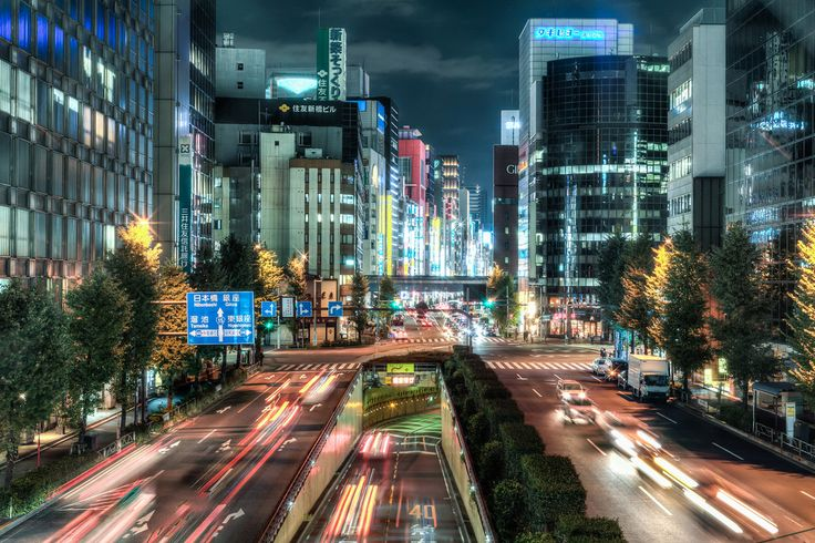 View of Ginza from Shimbashi / 新橋から銀座を眺める by mottock