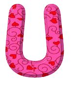 Letter U pink Icon | Multipurpose Alphabet Iconset ... |The Letter U In Pink