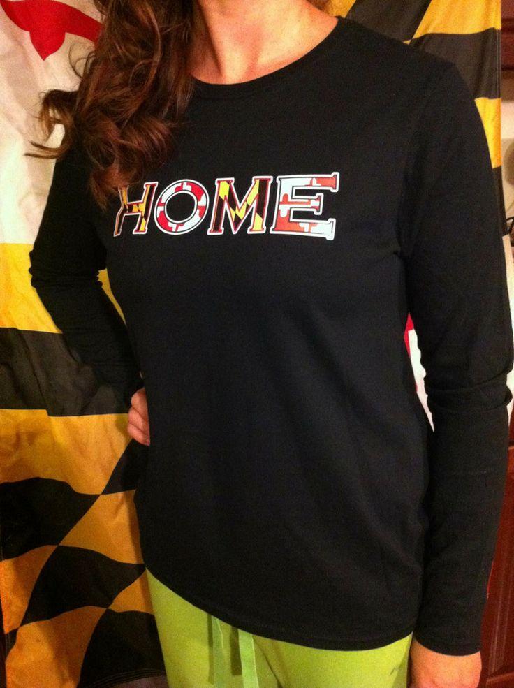 Bay Bred™ Women's Maryland Flag HOME Long Sleeve Shirt