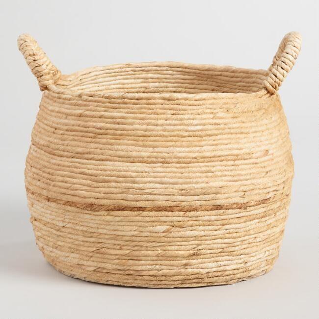 Large Banana Delilah Tote Basket - v1
