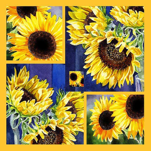Sunflowers Sunny Collage' - http://irina-sztukowski.artistwebsites.com/featured/sunflowers-sunny-collage-irina-sztukowski.html