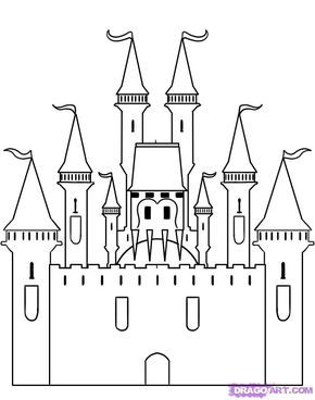 Step by step castle drawing
