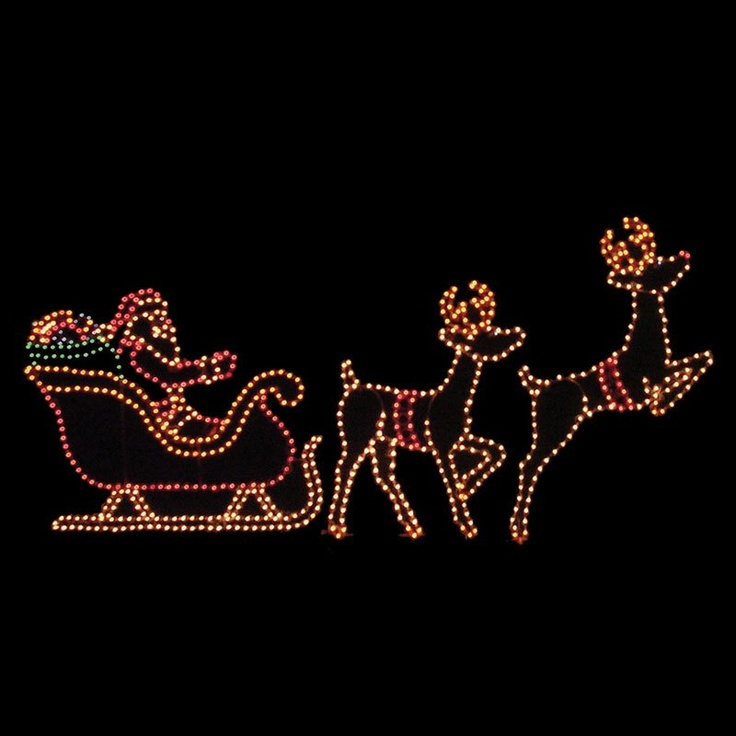 Best 28+ - Santa Sleigh And Reindeer Lights - my store ...