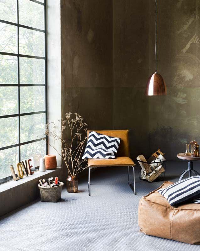 Woonkamer inrichting natuurlijk for Interieur accessoires design