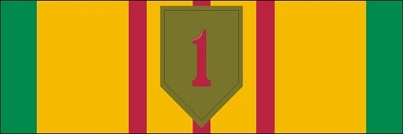 Vietnam Service Ribbon 1st Infantry Division Decal $6.40