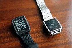 Get immediate access to critical apps & receive notifications straight to your wrist w/ the Pebble Steel watch
