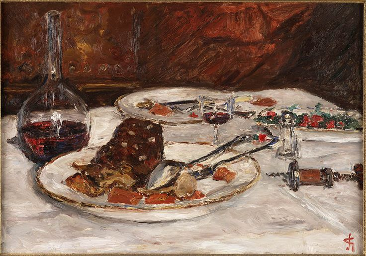 Still life `Boeuf à la mode' by Carel Nicolaas Storm van 's-Gravesande, 1906-1908. Teylers Museum