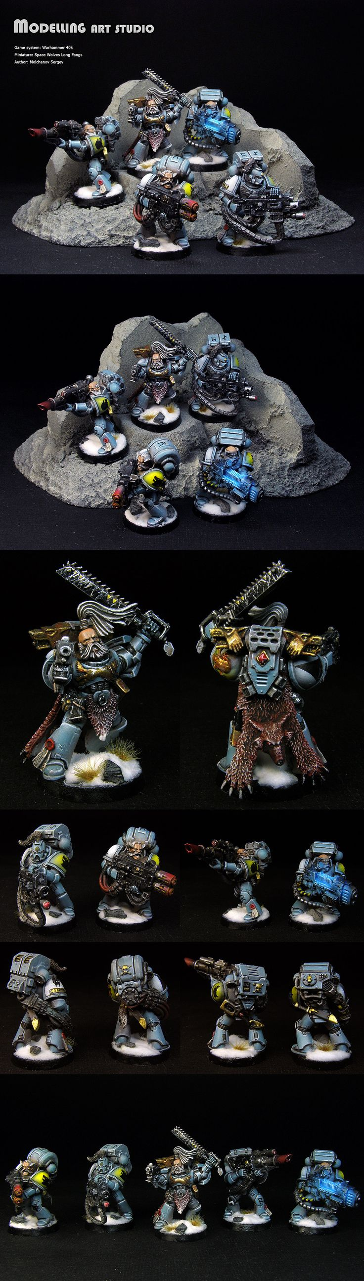 Space Wolves Long Fangs - the glow in the plasma weapon is perfect