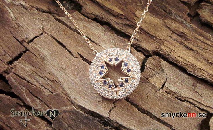 Rose pläterad halsband i sterling silver