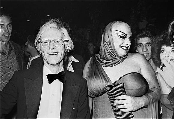 Kitschatron Hanging with Beautiful People - Andy Warhol and Devine