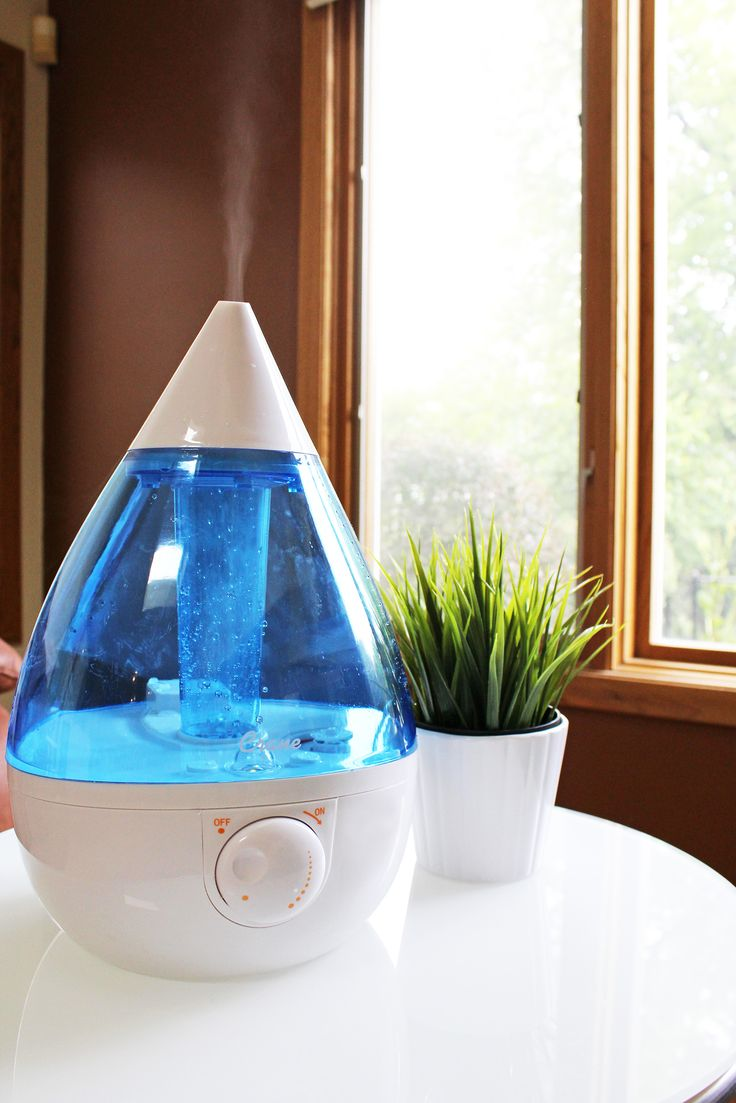 Have you added a humidifier to your baby's room yet? The Crane Drop Shape Ultrasonic Cool Mist Humidifier increases moisture in the air to ease breathing and help your baby get a good night's sleep. #PNpartner