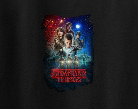Dustin Henderson Stranger Things poster CASTROVILLE Artichoke Festival California Netflix Show Tee T-shirt