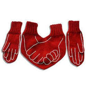 Funny Dual  Gloves for HIM and HER Valentines day present - cute :)
