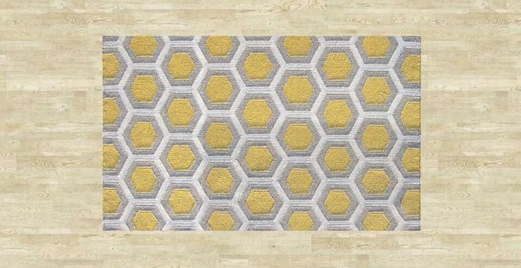 Bayliss Rug Hive Colour: Yellow In stock