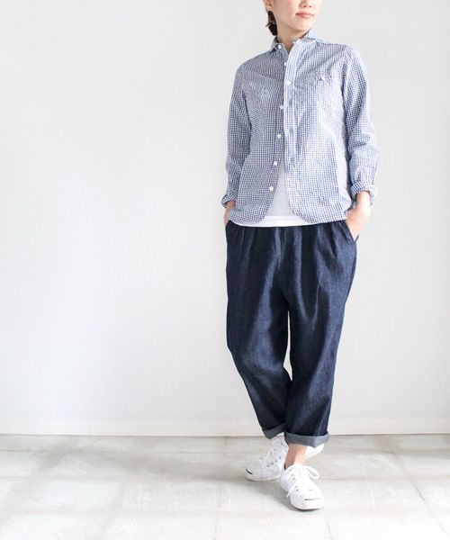 maillot sunset gingham work shirts (ギンガム・ワーク) SARO