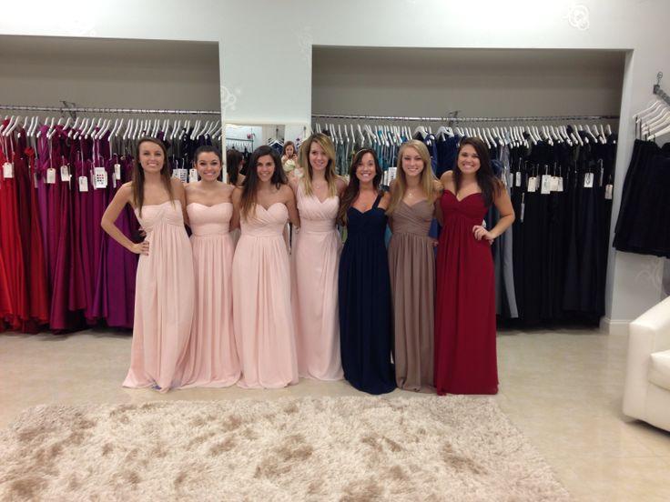 Levkoff bridesmaid dress colors pink