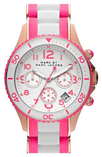 MARC BY MARC JACOBS 'Rock' Chronograph Silicone Bracelet Watch available at #Nordstrom