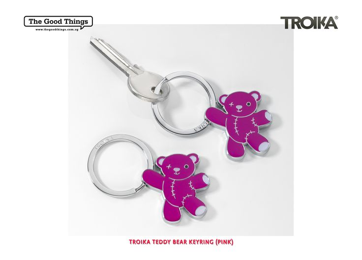TROIKA TEDDY BEAR KEYRING.    Nobody is too grown up for a teddy bear. Not even him.    #tgt #thegoodthings #troika