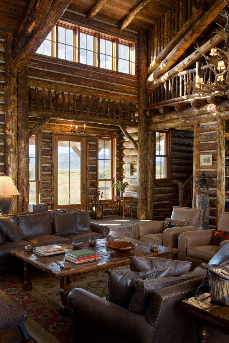 Log Home Interior Of R R Ranch Architecture Log