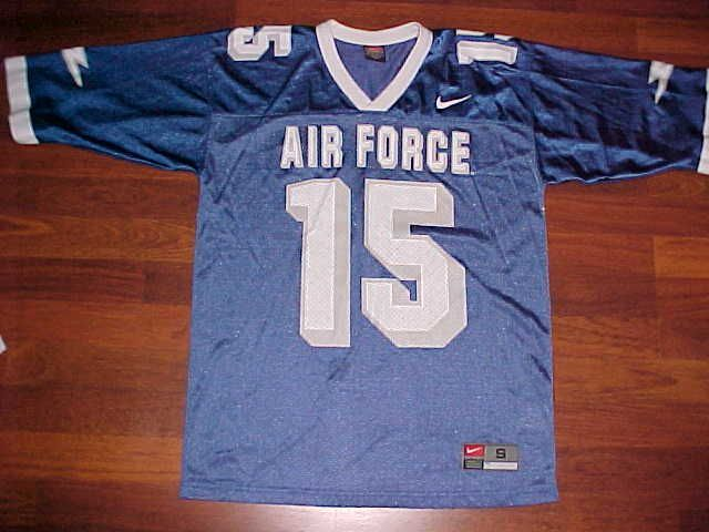 Nike NCAA Mountain West Air Force Falcons 15 Blue White Football Jersey S #Nike #AirForceFalcons