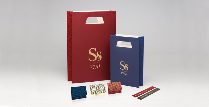 John Smith & Son. Brand Identity. Bags. Gift cards. Bookmarks.