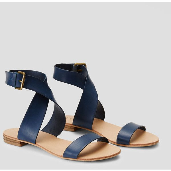 adb478238722 LOFT Crossover Flat Sandals featuring polyvore
