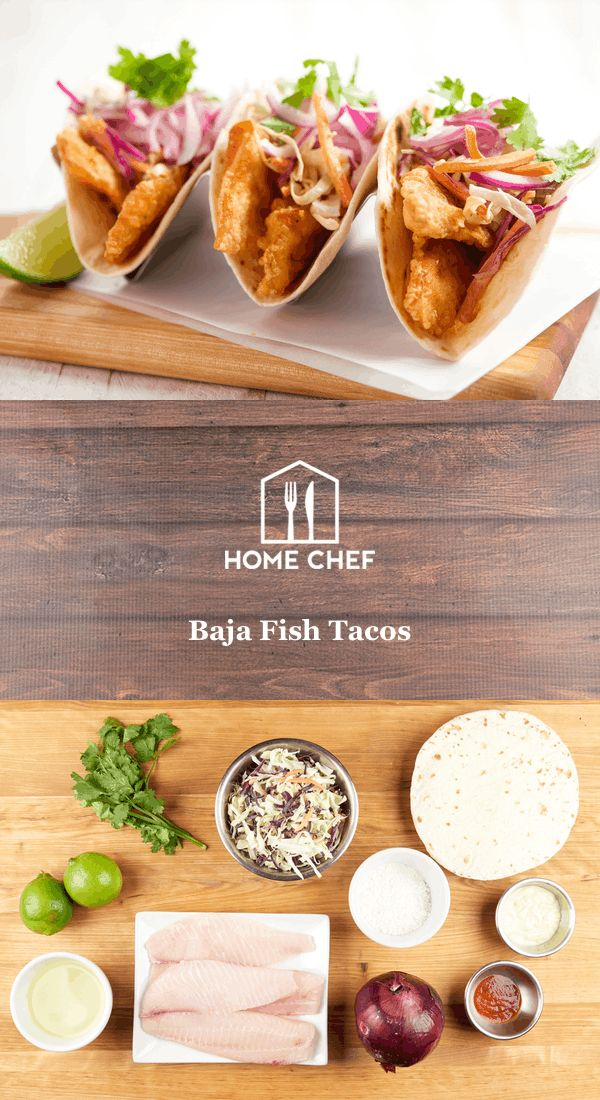 """Is there a better """"newish"""" hand-held food than fish tacos? Battered or baked, spicy or not… someone was using their brain when they decided tacos deserved a pairing with those aquatic craniate animals. This version goes back to the origins: Fish tacos were born in the Baja area. The first fish tacos were like these: a delicate fish lightly battered and fried, served in a tortilla with a mayo slaw. Are we reinventing perfection here? No, but we are sharing it with you."""