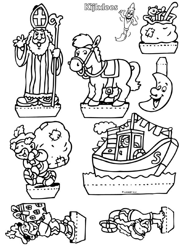 Sinterklaas - Kijkdoos - Knutselpagina.nl -