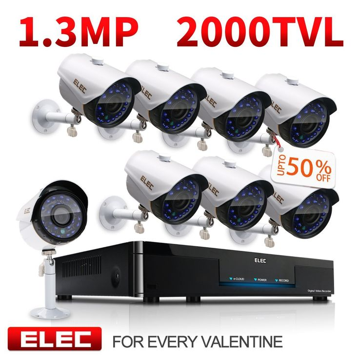 Don't miss out discount 10% Off ! please refer to ELEC Amazon account https://www.dealsplus.com/amazon-coupons?code=4850541   https://www.amazon.com/gp/offer-listing/B01MY0BAGB/ref=dp_olp_new_mbc?ie=UTF8&condition=new 8-Channel AHD DVR 1080P Lite Video Security Camera System