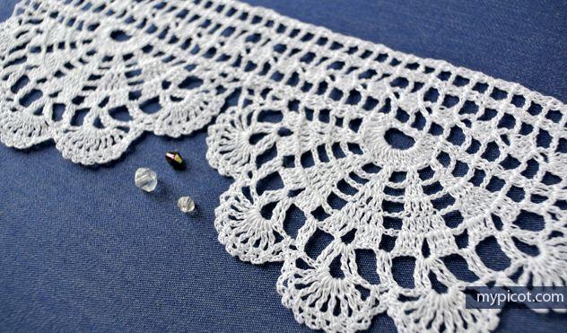 "MyPicot | Free crochet patterns - ""Homework""- wide economy lace edging"
