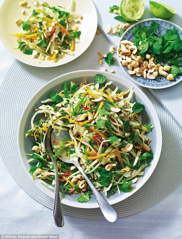 This is a great crunchy winter salad that is best made ahead, so the dressing can flavour the vegetables.