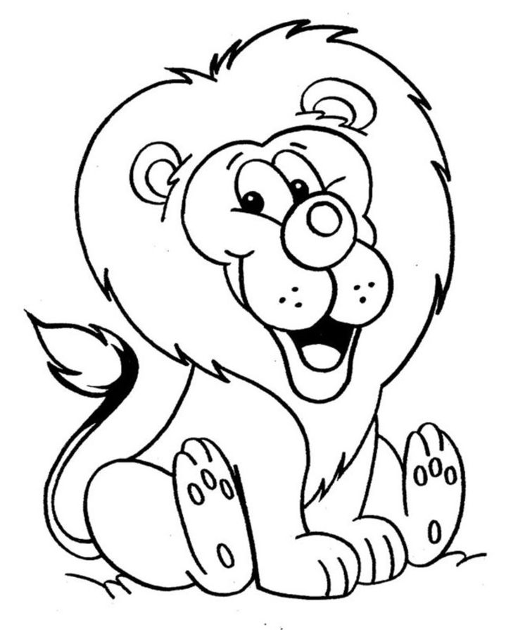 free coloring pages of lions - photo#17