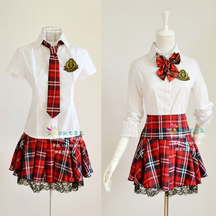 Etiquette sweet temperament Korean Institute of British school uniforms uniforms Ban red plaid dress costumes lace suit - Taobao