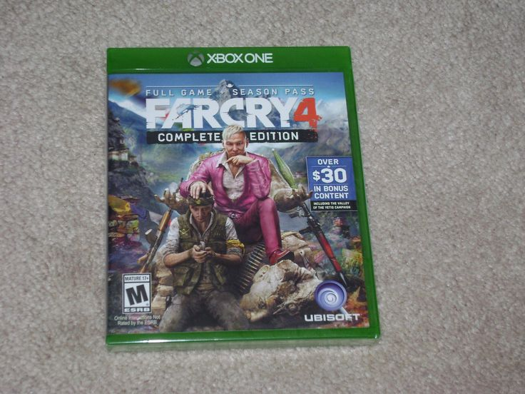 Up for auction is FAR CRY 4 COMPLETE EDITION BRAND NEW AND FACTORY SEALED FOR XBOX ONE. This game would provide hours and hours of fun and enjoyment f... #sealedbrand #xbox #edition #complete